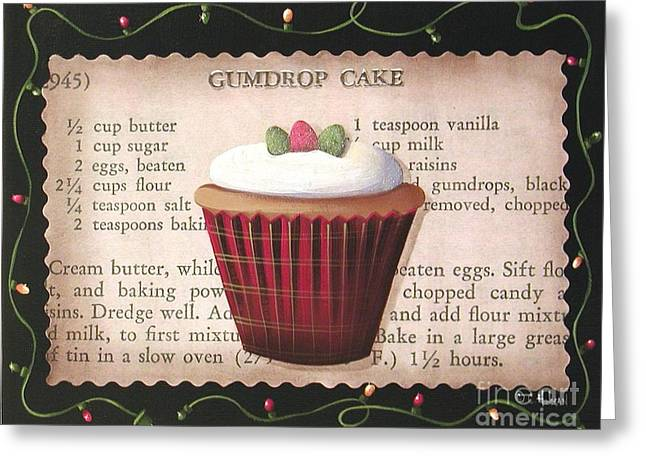 Gumdrop Cupcake Greeting Card by Catherine Holman