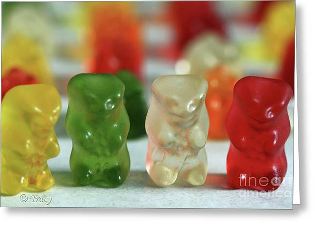 Gummy Bear Meeting Greeting Card by Tracy  Hall