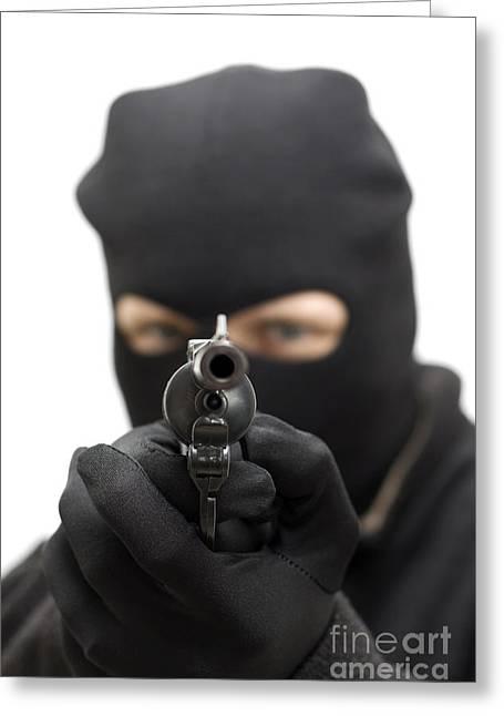 Thug Greeting Cards - Gunman Greeting Card by Ryan Jorgensen