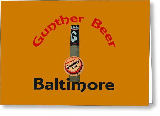 Bottlecaps Greeting Cards - Gunther Beer Baltimore Greeting Card by Jost Houk