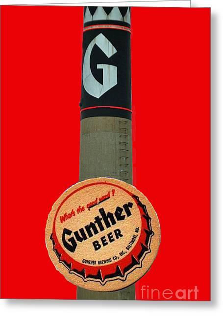National Bohemian Beer Greeting Cards - Gunther Beer Greeting Card by Jost Houk