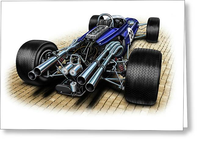 Gurney Eagle F-1 Car Greeting Card by David Kyte