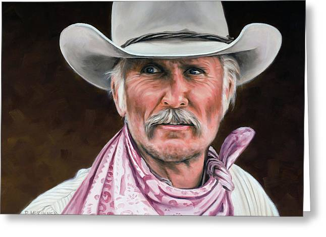 Doves Greeting Cards - Gus McCrae Texas Ranger Greeting Card by Rick McKinney