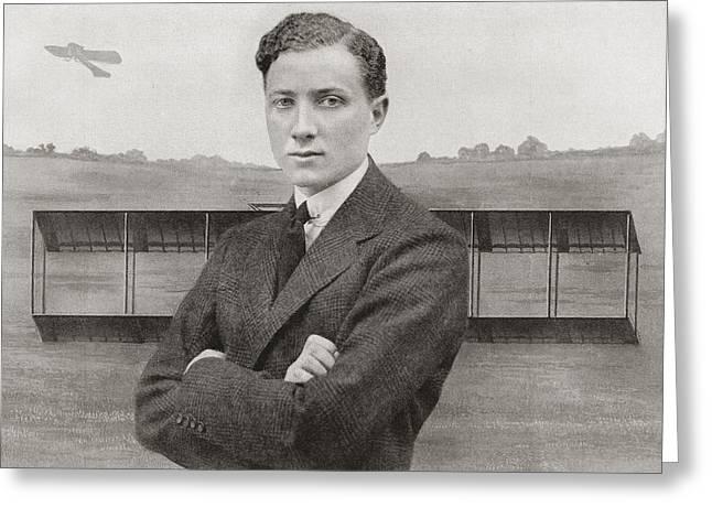 Hamels Drawings Greeting Cards - Gustav Hamel, 1889 - Missing May 23 Greeting Card by Ken Welsh