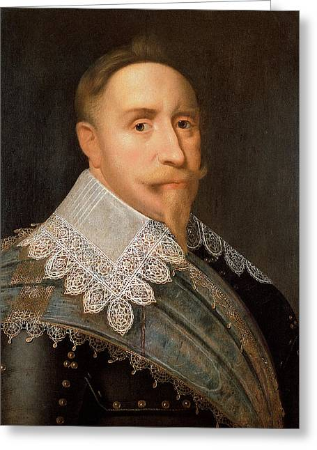 Lions Den Greeting Cards - Gustavus Adolphus of Sweden Greeting Card by War Is Hell Store