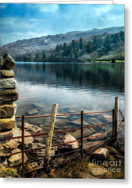 Dilapidated Digital Art Greeting Cards - Gwynant Lake Greeting Card by Adrian Evans