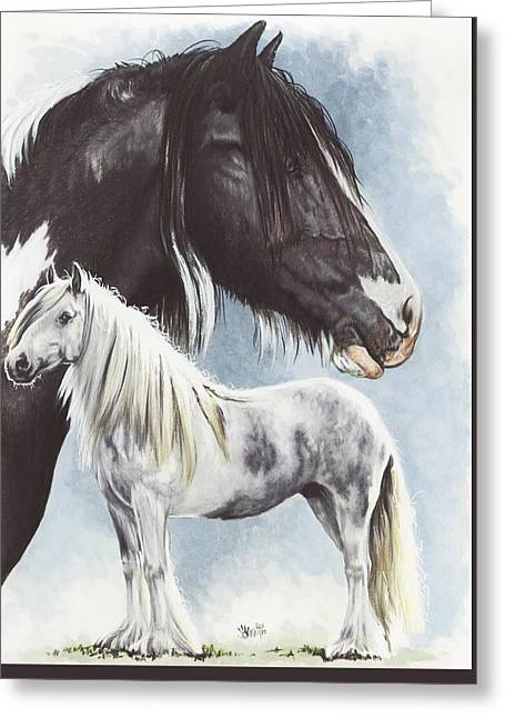 Cob Drawings Greeting Cards - Gypsy Cob  Greeting Card by Barbara Keith