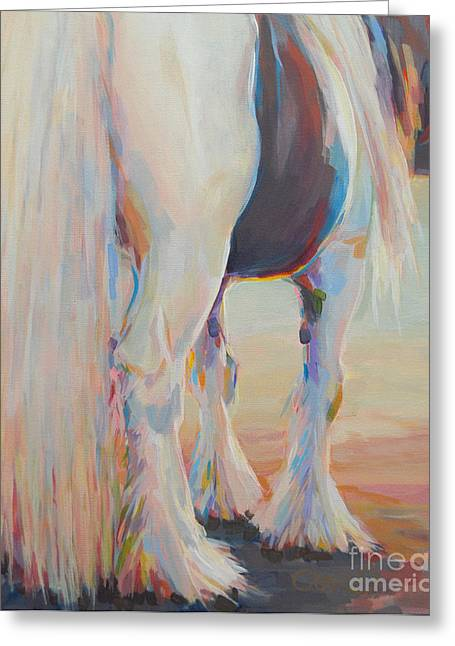 Gypsy Vanner Horse Greeting Cards - Gypsy Falls Greeting Card by Kimberly Santini