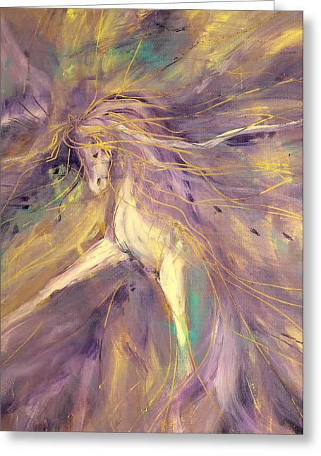 Gypsy Greeting Cards - Gypsy Feathers Greeting Card by Jennifer Fosgate