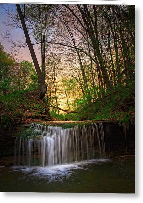 Irvine Greeting Cards - Gypsy Glen  Rd waterfall  Greeting Card by Emmanuel Panagiotakis