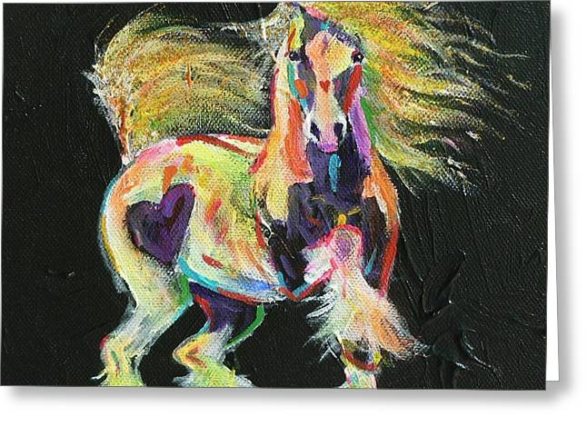 Tinkered Mixed Media Greeting Cards - Gypsy Gold Pony Greeting Card by Louise Green