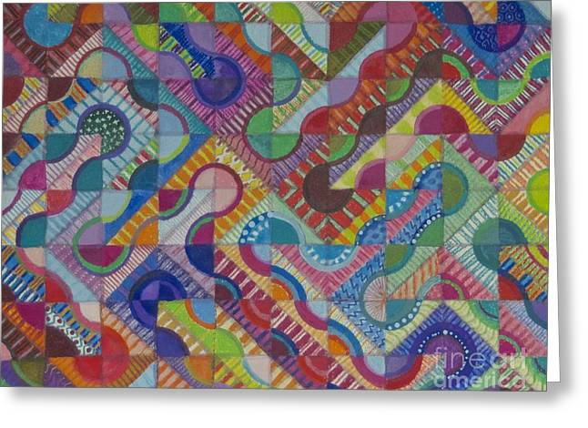 Gypsy Tapestries - Textiles Greeting Cards - Gypsy Road Greeting Card by Julie Koski