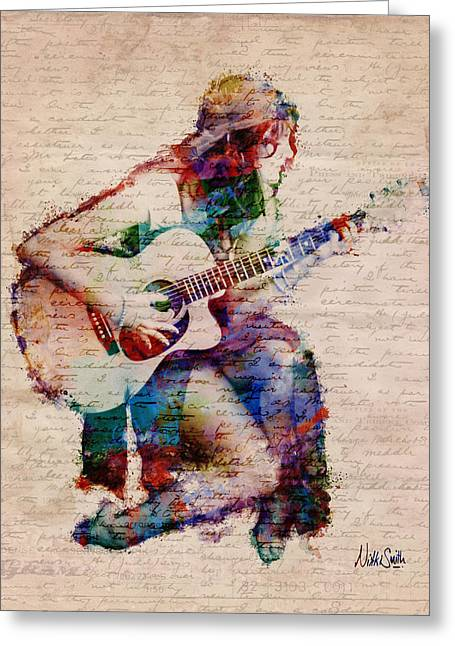 Girl Digital Greeting Cards - Gypsy Serenade Greeting Card by Nikki Smith