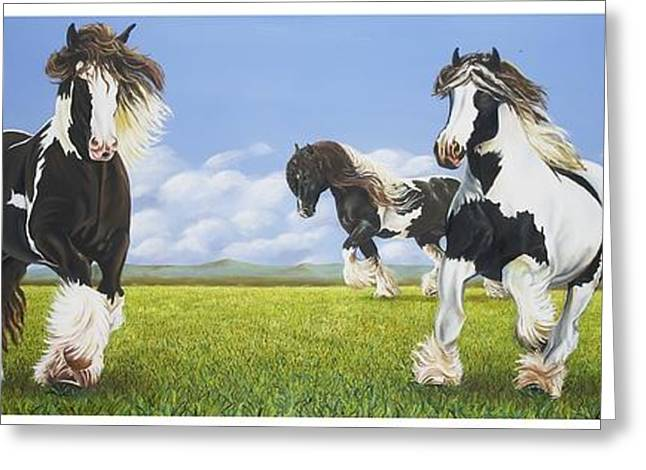 Gypsy Greeting Cards - Gypsy Vanners Greeting Card by Rick Seguso