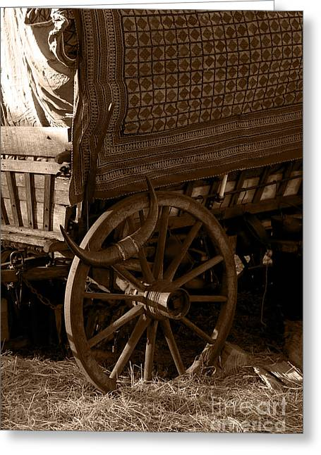 Gypsy Wagon Greeting Card by Jorgo Photography - Wall Art Gallery