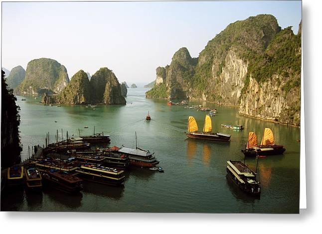 Ha Long Bay Greeting Card by Oliver Johnston