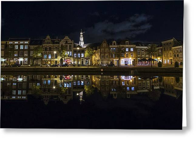 Holland Greeting Cards - Haarlem Night Greeting Card by Chad Dutson