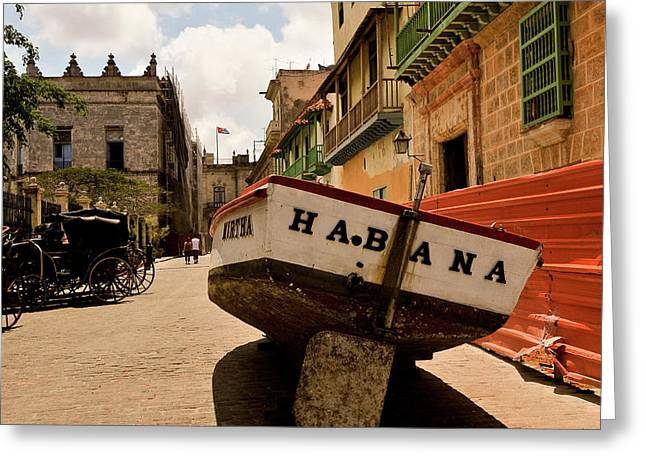 Havana Greeting Cards - Habana Greeting Card by Andriy Zolotoiy