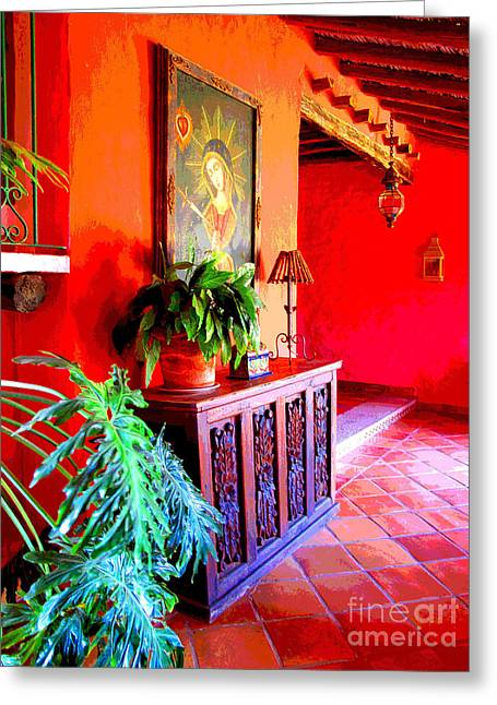 Portal Greeting Cards - Hacienda by Darian Day Greeting Card by Olden Mexico