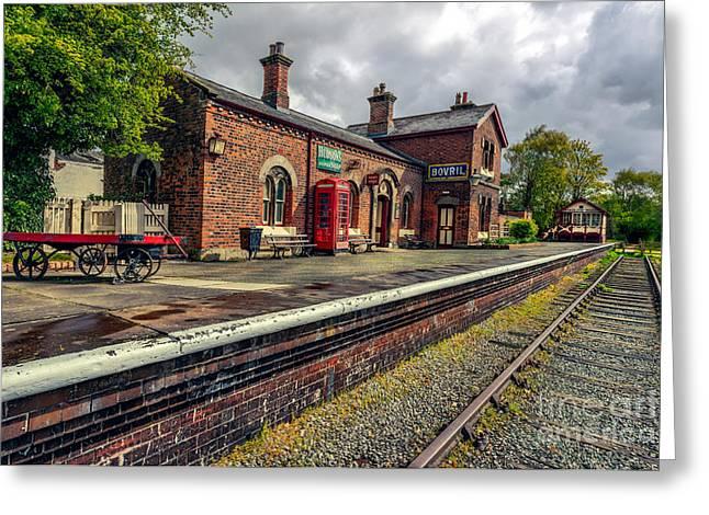 Hadlow Road Railway Station Greeting Card by Adrian Evans