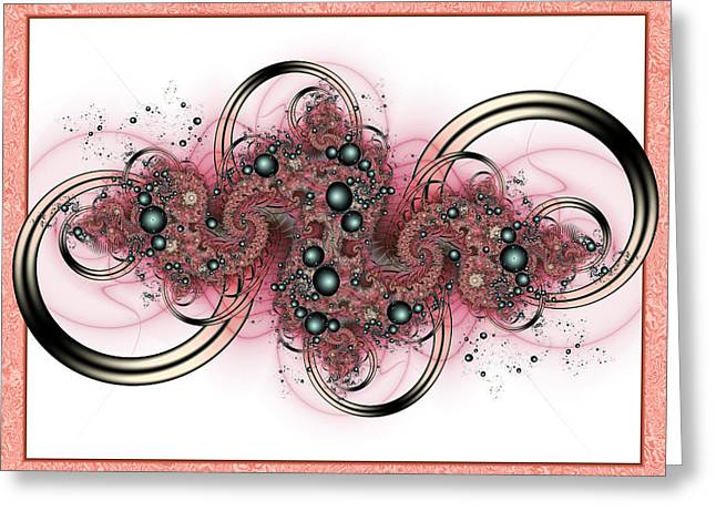 Fractal Art Greeting Cards - Hadron Collider Greeting Card by David April