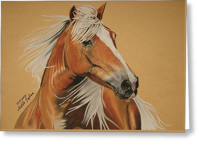 Live Pastels Greeting Cards - Haflinger  Greeting Card by Melita Safran