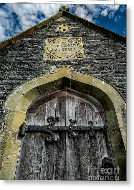Llangernyw Greeting Cards - Hafodunos Tomb Greeting Card by Adrian Evans