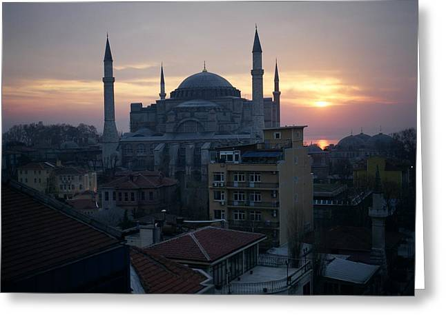 Hagia Sophia Greeting Card by Dean Robinson