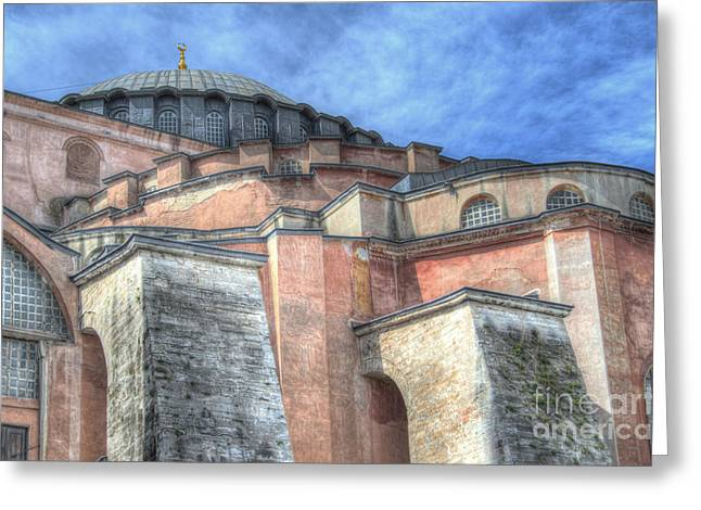 Byzantine Greeting Cards - Hagia Sophia in Istanbul Greeting Card by Rex Wholster