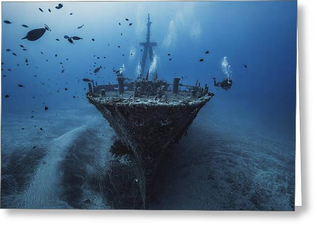 Ras Greeting Cards - Hai Siang Wreck Greeting Card by Barathieu Gabriel
