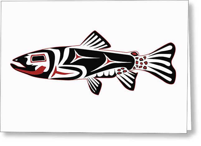Haida Trout Greeting Card by Rob Tullis