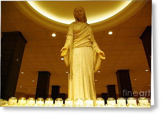 Hail Mary Full Of Grace...amen Greeting Card by John S
