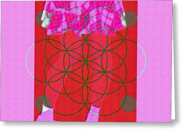 Color Enhanced Greeting Cards - Hailf Dressed Greeting Card by Caroline Gilmore