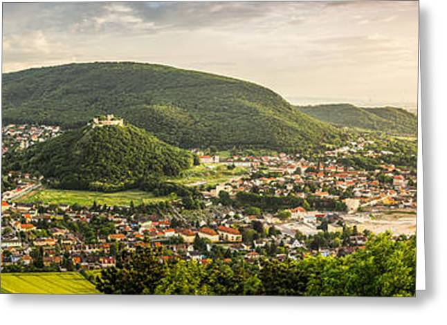 Outlook Greeting Cards - Hainburg as Seen from Braunsberg Hill Greeting Card by Karol Czinege