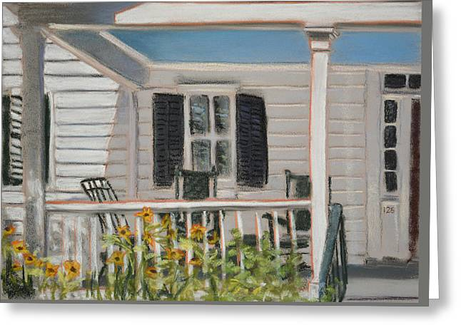 Rocking Chairs Pastels Greeting Cards - Haint Paint Greeting Card by Christopher Reid