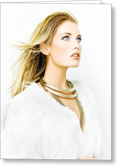 Gold Necklace Greeting Cards - Hair Style Greeting Card by Ryan Jorgensen