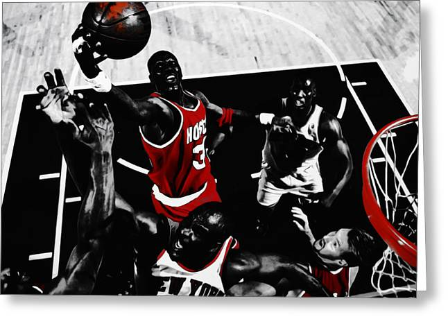 Hakeem Olajuwon Gimme Dat Greeting Card by Brian Reaves