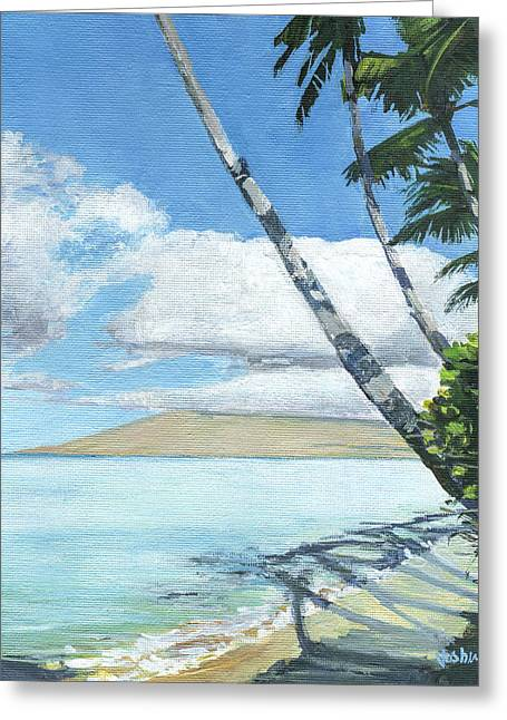 Halama Street Palms Greeting Card by Stacy Vosberg