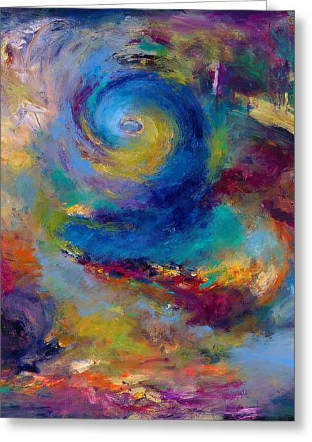 Abstract Expressionistic Greeting Cards - Halcyon Winds Greeting Card by Johnathan Harris