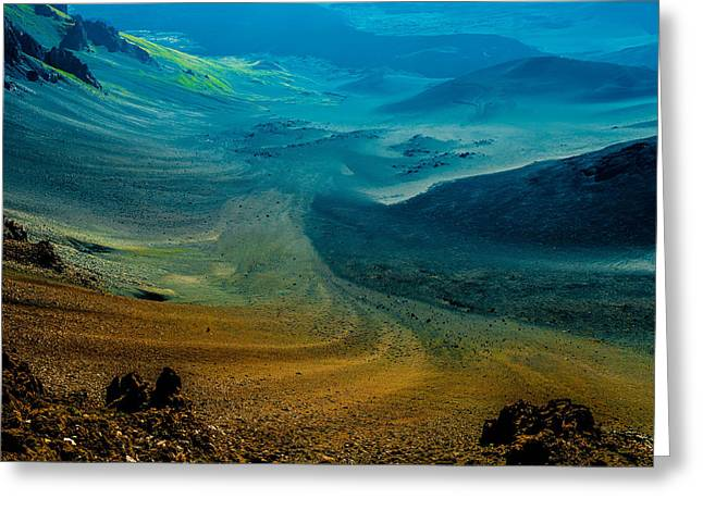 Greeting Card featuring the photograph Haleakala by M G Whittingham