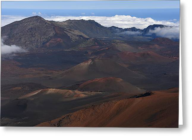 Haleakala Crater Greeting Card by Jennifer Ancker