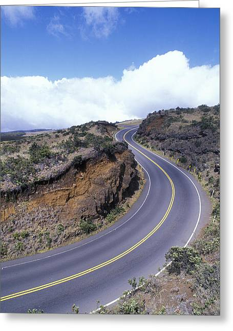 Road Travel Greeting Cards - Haleakala Highway At A 10 Mph Turn Greeting Card by Rich Reid