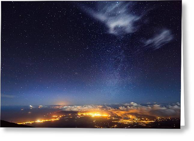 Star Greeting Cards - Haleakala Milky Way Greeting Card by Andre Distel