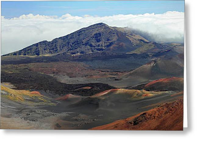 The Houses Greeting Cards - Haleakala panorama Greeting Card by Pierre Leclerc Photography