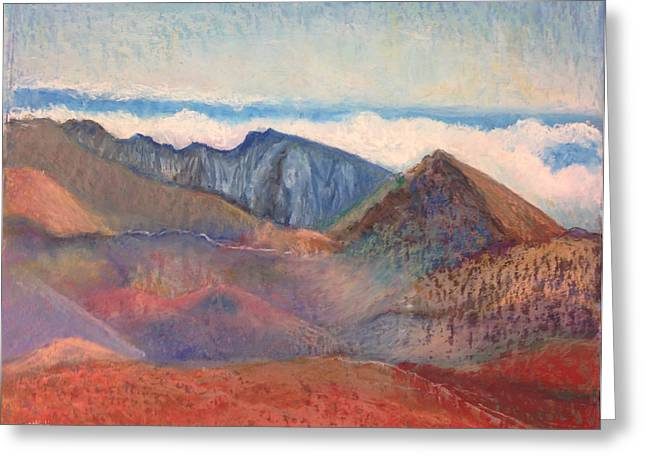 Rust Pastels Greeting Cards - Haleakala Volcano House of the Sun Greeting Card by Carole Sluski