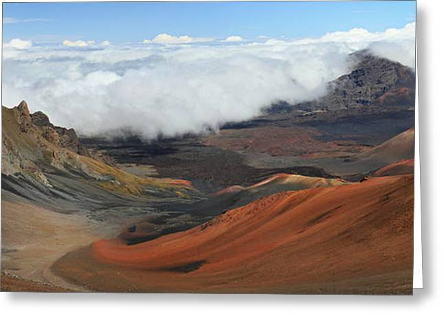 Above The Clouds Greeting Cards - Haleakala volcano landscape Greeting Card by Pierre Leclerc Photography