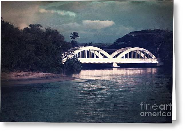 Haleiwa Bridge Greeting Card by Paul Topp