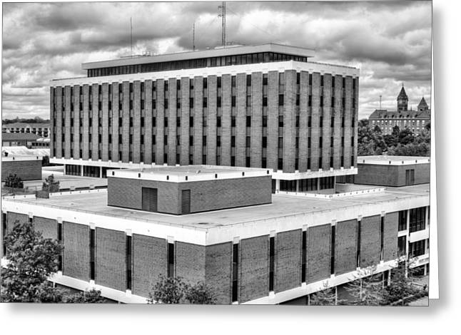 Haley Center In Black And White Greeting Card by JC Findley