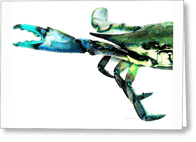 Crab Greeting Cards - Half Crab - The Left Side Greeting Card by Sharon Cummings