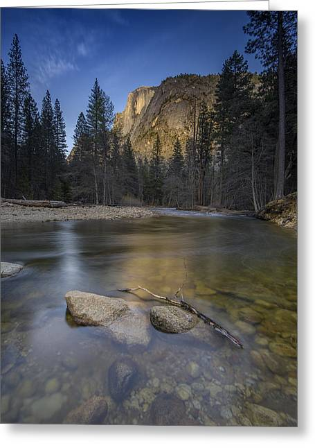Dome Greeting Cards - Half Dome and the Merced Greeting Card by Rick Berk